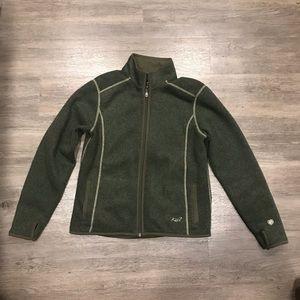 Kuhl Women's Alfpaca Fleece Green Zip Jacket M